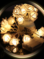 billiga -1.2m Ljusslingor 10 lysdioder Varmvit / Vit / Röd <5 V
