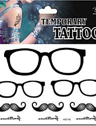 Temporary Tattoos Back Body Cartoon Series 3D Rose Waterproof Tattoos Stickers Non Toxic Glitter Large Fake Tattoo Halloween Gift 22*15cm