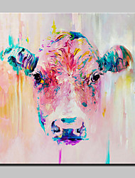 cheap -Hand-Painted Modern Abstract Animal Cow Oil Painting On Canvas Wall Art For Home Decoration Ready To Hang