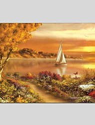 Oil Paintings Modern Landscape Style Canvas Material With Wooden Stretcher Ready To Hang Size60*90CM and 50*70CM.