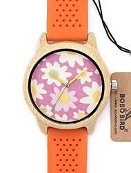 BOBO BIRD Women's Fashion Watch Wristwatch Unique Creative Cool Casual Silicone Band Vintage Luxury Watches Wood Watch