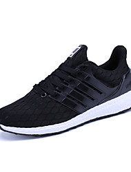 cheap -Men's Athletic Shoes Comfort Tulle Summer Fall Casual Outdoor Office & Career Walking Comfort Lace-up Platform Black Blue 3in-3 3/4in