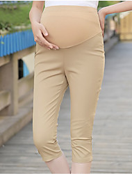 Expectant Mother's Pure Cotton And Comfortable Seven Pencil Pants Render Feet Pants Abdomen Slacks