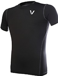 abordables -Unisexe Tee-shirt de Course Respirable, Confortable Shirt / Hauts / Top pour Exercice & Fitness / Course / Running Noir XXL / XXXL / 4XL