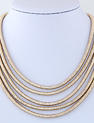 cheap -Women's Fashion Euramerican Layered Necklace Alloy Layered Necklace , Party Daily