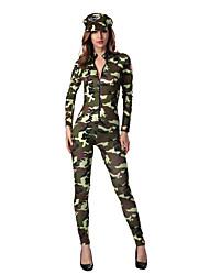 Soldat/Guerrier Costumes de Cosplay Féminin Halloween Carnaval Fête / Célébration Déguisement d'Halloween Couleur camouflage Mode
