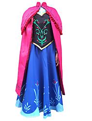 Teenage Girls Cosplay Costume Kids Halloween Blue Princess Dress