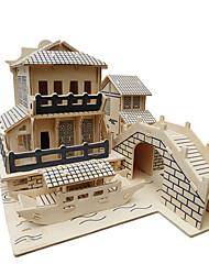 Недорогие -Пазлы 3D пазлы Строительные блоки Игрушки своими руками Игрушки Дерево Модели и конструкторы