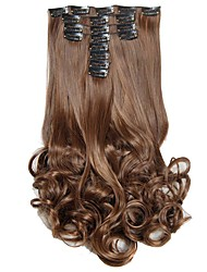 cheap -Synthetic Hair False Hair Extensions 20inch 150g Curly Hairpiece Heat Resistant Hair D1022  4/30#