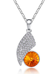 Women's Pendant Necklaces Crystal Chrome Unique Design Euramerican Fashion Personalized Light Blue Red Rose Red Yellow White Jewelry For