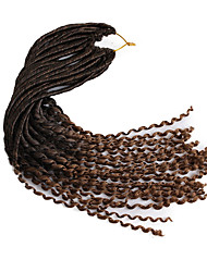 22inch synthetic crochet fauxlocs braids soft locs hair with curls ends faux locs croehet braiding kanekalon heat resistant fiber 6-8pcs make head 1pc