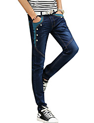 Men's Jeans Pants Patchwork