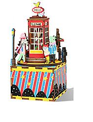 cheap -Music Box Square Gift Rotating Kid's Adults Kids Gift Wood Unisex