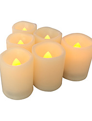 cheap -6 PCSFlameless Votive Candles with Timer LED Votives Battery Operated Votives with Timer Realistic Flickering Long Battery Life 400 Hour / CR245