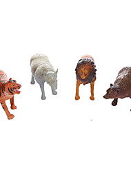 cheap -Educational Toy Toys Dinosaur Lion Animals Bear Tiger Plastic Boys' 4 Pieces