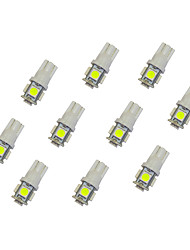 cheap -10Pcs T10 5*5050 SMD LED Car Light Bulb White Light DC12V
