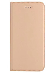 cheap -Case For Huawei P9 Lite Huawei Huawei P9 Plus Card Holder with Stand Flip Ultra-thin Full Body Cases Solid Color Hard PU Leather for P10