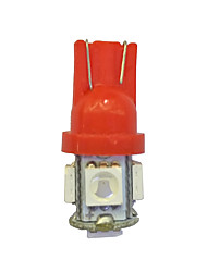 cheap -10Pcs T10 5*5050  SMD LED Car Light bulb red Light DC12V