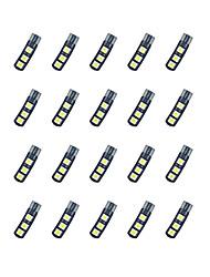 Недорогие -20pcs t10 6 * 5050 smd доске лезвия расшифровывая вело свет электрической лампочки автомобиля dc12v