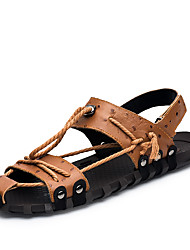 cheap -Men's Shoes Cowhide Summer Fall Light Soles Comfort Sandals for Casual Office & Career Outdoor Black Brown
