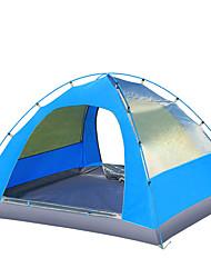 3-4 Personen Zelt Doppel Camping Zelt Einzimmer Falt-Zelt Feuchtigkeitsundurchlässig Wasserdicht Windundurchlässig Regendicht für Wandern