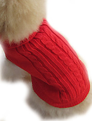 cheap -Dog Sweater Dog Clothes Solid Brown Red Blue Costume For Pets