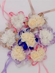 Недорогие -10 Филиал Шелк Полиуретан Другое Розы Букеты на стол Искусственные Цветы