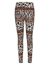 Women's Polyester sexy Leggings Leopard Leggings Print Skinny Pants High Elastic Stretch Pants Female Geometric Pant