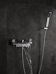 abordables -Grifo de bañera - Arte Decorativa / Retro Cromo Colocado en la Pared Válvula Latón
