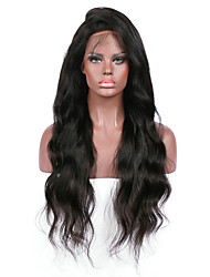 Donna Parrucche di capelli umani con retina Brasiliano Remy Lace frontale Senza colla e con tulle frontale 130% Densità Con ciuffetti
