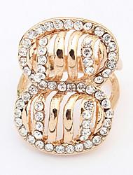 Men's Women's Ring Rhinestone Basic Unique Design Logo Style Rhinestones Simple Style Bohemian USA Punk British Adorable Classic