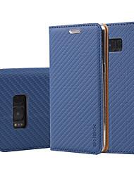 preiswerte -Hülle Für Samsung Galaxy S8 Plus S8 Kreditkartenfächer Geldbeutel mit Halterung Flipbare Hülle Ganzkörper-Gehäuse Volltonfarbe Hart