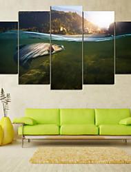 preiswerte -Gerollte Leinwand Landschaft Ländlich, Fünf Panele Horizontal Druck Wand Dekoration Haus Dekoration