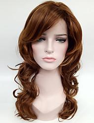 Syntetisk hår Parykker Bølget Lågløs Carnival Paryk Halloween Paryk Naturlig paryk Medium Brun