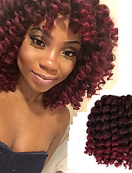cheap -8inch 20roots/pack Synthetic crochet Ombre braiding Jumpy Wand Curl Braids hair Jamaican Bounce Twist African Hair Extension Kanekalon