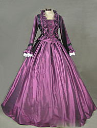 One-Piece/Dress Gothic Lolita Lolita Cosplay Lolita Dress Vintage Cap Long Sleeve Floor-length Dress For Other