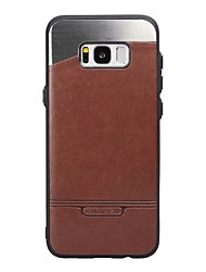 For Samsung Galaxy S8 Plus S7 Case Cover The Stick Leather with Stick the Metal Mobile Phone Cases for S6 Edge S6