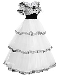 cheap -Sweet Lolita Dress Lolita Women's Outfits Cosplay White Puff/Balloon Short Sleeves Long Length