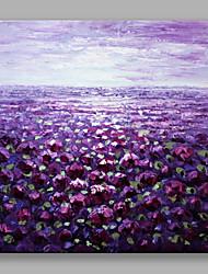 economico -Dipinta a mano Floreale/BotanicalContemporaneo Fiore Art déco/Retrò Un Pannello Tela Hang-Dipinto ad olio For Decorazioni per la casa