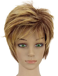 cheap -High Temperature Synthetic Fiber Woman Blonde Mixed Short Layered Curly Hair Wig