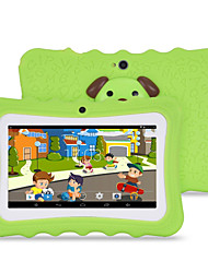 cheap -M711 7 inch Android 4.4.2 Quad Core 1024*600 TFT Screen 512M/8G 2500mah Kid Tablet Green