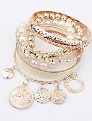 Femme Charmes pour Bracelets Amitié Mode Bohême Gothique bijoux de fantaisie Résine Alliage Forme de Cercle Forme Géométrique Bijoux Pour