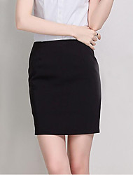 cheap -Women's Vacation Saia Faldas Pencil Skirt Elegant OL Work Wear