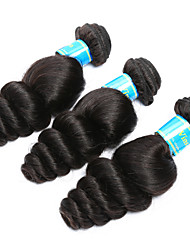 cheap -Brazilian Hair Loose Wave Classic Human Hair Weaves High Quality Natural Color Hair Weaves Daily