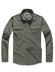 Men's Hiking Shirt Outdoor Quick Dry Ultraviolet Resistant Breathable Coverall for