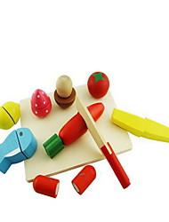Недорогие -Игрушечная еда Ролевые игры Ножи для овощей и фруктов Овощи и фрукты Дерево Детские Подарок 1pcs