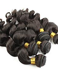 economico -Ciocche a onde capelli veri Peruviano Ondulato naturale 6 mesi 1 pezzo tesse capelli