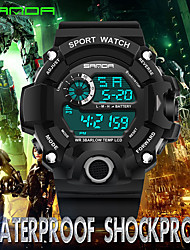 cheap -Men's Sport Watch Wrist watch Japanese Digital Calendar / date / day Water Resistant / Water Proof Noctilucent Rubber Band Casual Cool