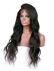 cheap -Premier Affordabel Brazilian Unprocessed Human Hair Glueless Lace Front Wigs Long Natural Body Wave Hair Wigs For Afircan Americans