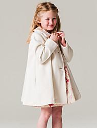 cheap -Girls' Solid Fashion Jacket & Coat, Acrylic Polyester 100% Cotton Long Sleeves Dresswear Khaki